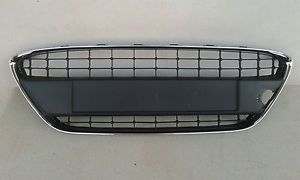 Front Bumper Grill for Ford Fiesta 2008 2013 with Frame Chrome Titanium Lucid