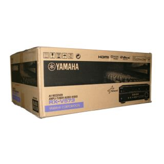 New Yamaha RX V573 7 2 Channel Home Theater Audio Video Receiver RX V573BL 2012