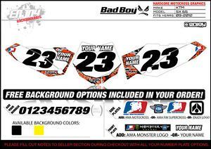 Bad Boy Team Motocross Number Plate Graphic 2009 2012 KTM 65 SX by Enjoy Mfg