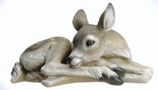 "16 75"" Long Sleeping Deer Indoor Outdoor Garden Statue"