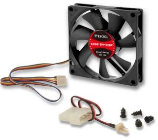 EverCool EC8015HH12BP 80mm x 15mm Hi Speed Dual Ball Bearing PWM 4 Pin Fan