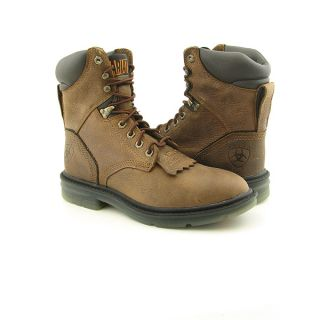 Ariat 37224 Impact Mens Sz 7 Brown Tumbled Tan x Wide Boots Work Shoes