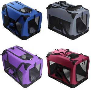 4 Color Portable Folding Pet Dog House Soft Crate Carrier Cage Kennel Carry Case