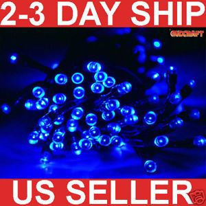 100 LED Solar Power String Light Christmas Fairy Blue