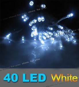 4M 40 LED Fairy String Lights Battery String Garden Party Christmas Pure White