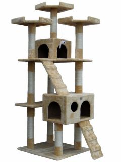"72"" Cat Tree House Toy Bed Scratcher Post Furniture"