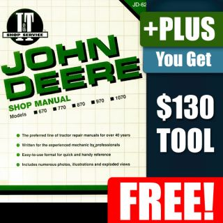 John Deere Farm Tractor 970 Part Service Repair Manual