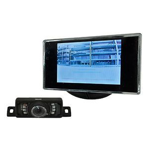 "Universal Motorcycle Rear View Camera System Kit 3 5"" Monitor GSXR CBR YZF ZX"