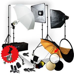 Photo Studio Strobe 3 Flash Monolight Kit Softbox for Photography Lighting Kit