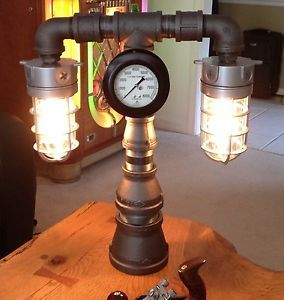 Industrial Machine Age Lamp