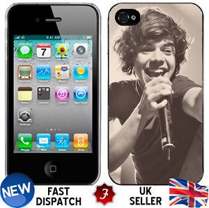 One Direction Harry Styles Singing iPhone 4 4S Plastic Hard Phone Cover Case