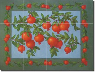 Poole Kitchen Fruit Still Life Ceramic Tile Mural Art