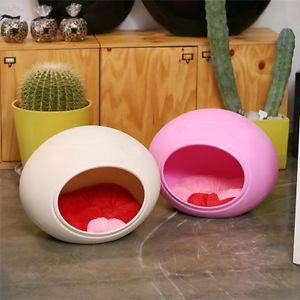 Pet Dog Cat Puppy House Bed Kennel Egg Shape Potable Pet Supplies Pink Color New