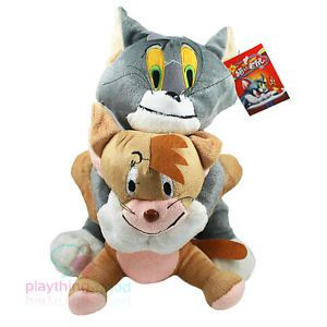 Disney Tom and Jerry Cat Catch Mouse Plush Doll Soft Toy Cute