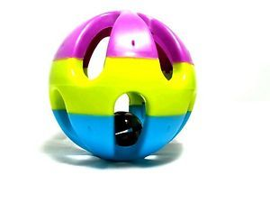 Pet Dog Cat Colorful Toy Ball Bell Sound