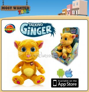 Animated Talking Ginger Cat Interactive Plush iPhone Android App Character Toy
