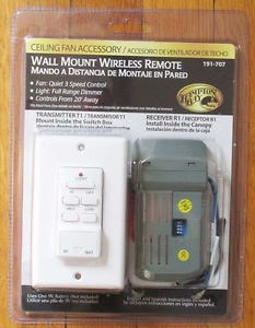 Hampton Bay Wall Mount Wireless Remote Control 191 707 Ceiling Fan Light