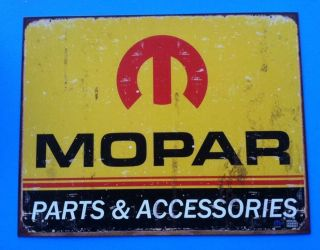 Mopar Parts Accessories Man Cave Metal Sign Ford Chevy Dodge