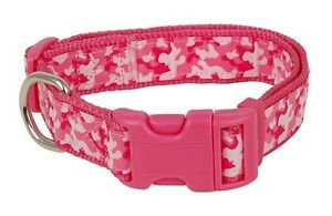 Douglas Paquette Nylon Dog Collars Leads Camo Pink Hurry Limited Sizes