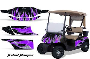 AMR Racing Graphic Kit Sticker Decal EZGO Gas Golf Cart Accessories Part Purple
