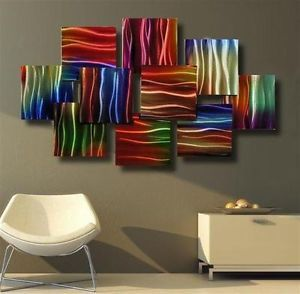 Metal Modern Abstract Wall Art Painting Sculpture Decor Aluminum Contemporary