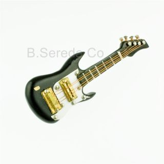Miniature Musical Instrument Bass Guitar Pin