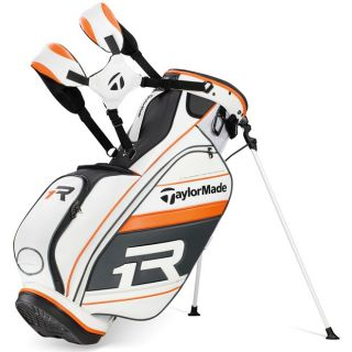 New TaylorMade R1 TMX White Black Orange Stand Golf Bag