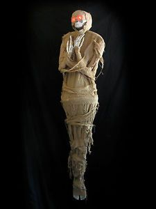 Lifesize Mummy Skeleton Hanging Haunted House Halloween Party Prop Over 5 Feet