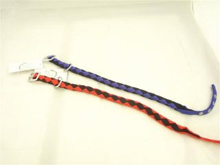 Mad Spaniels Rolled Braided Nylon Dog Collar All Sizes Blue Red Black