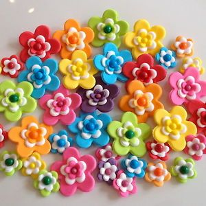 Carnival Bouquet Sugar Flowers Edible Cake Cupcake Decorations Sprinkles