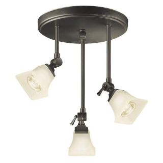 Hampton Bay Westminster Collection Bronze 3 Light Track Canopy