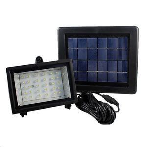 Outdoor Garden Road Path Landscape Wall Mount LED Solar Power Flood Light Lamp