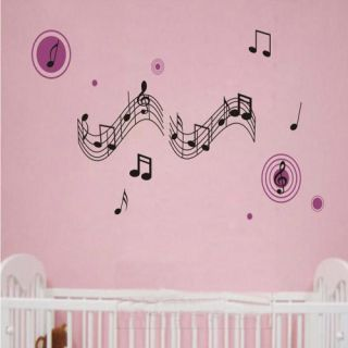 Charm Music Notes Art Wall Stickers Paper Decal for Home Room Decor DIY