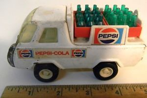 Vintage Buddy L Pepsi Delivery Truck with 2 Crates Press Metal Toy Car Truck