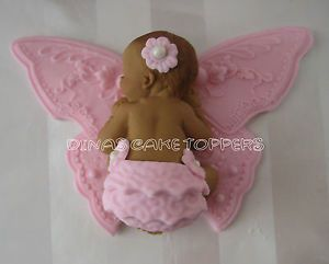 BUTTERFLY BABY SHOWER cake Topper Favors decorations 1st Birthday Baptism