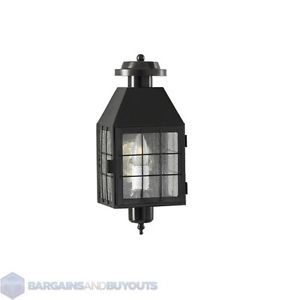 Norwell Lighting One Light Black Wall Mount Lantern