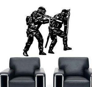 Police SWAT Team Soldier Army Wall Decor Vinyl Decal