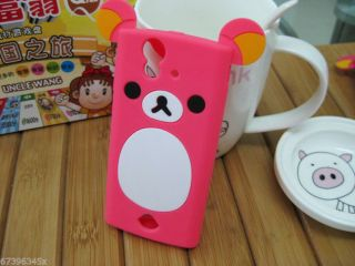 Lovely Cute Teddy Bear Silicone Soft Cover Case for Sony Xperia Ray ST18 ST18i