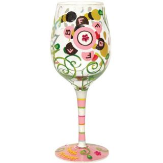 Lolita Love My Wine BFF Glass Hand Painted Best Friends Forever