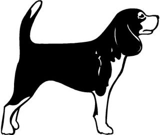 Beagle Dog Vinyl Decal Car Truck Window Sticker