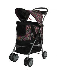 New Ultimate Fashion Flower 4 in 1 Pet Dog Cat Stroller Carrier Car Seat House