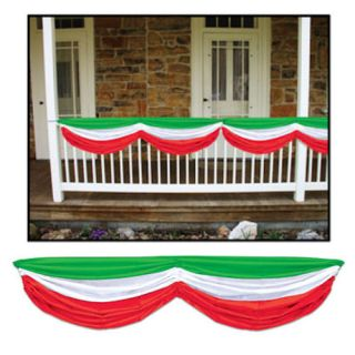 Fabric Bunting Red White Green Indoor Outdoor Christmas Italian Decoration