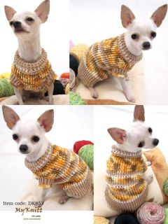 XXS XS Handmade Dog Puppy Apparel Costume Clothing Sweater D853 Teacup Chihuahua