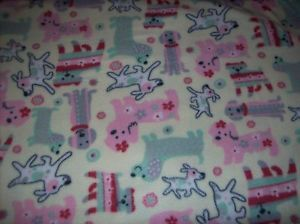 Poodle Dashound Mutt Crate Bed Dog Fleece Fabric Blanket Personalized