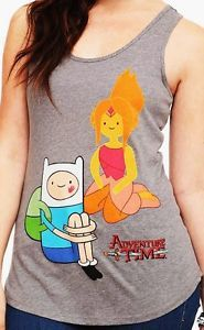 Adventure Time Finn Flame Princess Tank Top Shirt Jr Medium