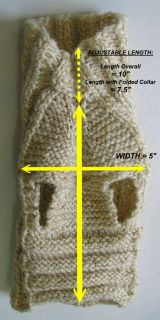 Dog Sweater Coat Liner Puppy Teacup Original Handknit