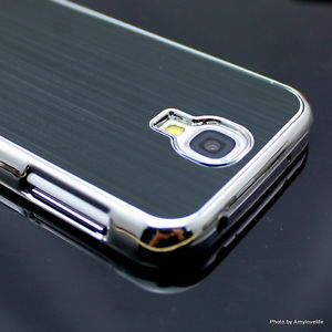 Luxury Brushed Aluminum Chrome Hard Case Cover for Samsung Galaxy S4 I9500