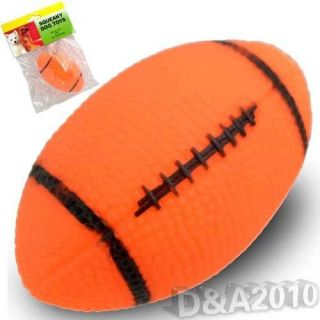 Rubber Rugby Football Shape Pet Cat Dog Puppy Toys Squeaker Beep Chew Toy Gifts