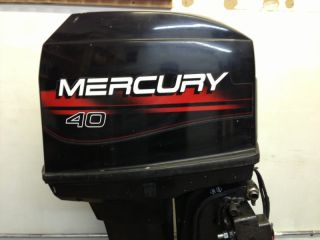 1996 Mercury 40 HP 2 Stroke Outboard Motor Boat Engine 30 50 60 25 Water Ready