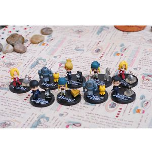 9pcs Fullmetal Alchemist Cute Anime Figures Garage Kits Action Figure Toy Doll